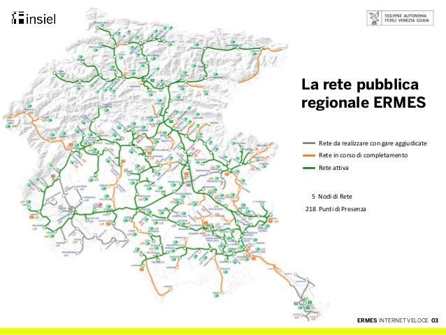 Ermes, internet veloce per la regione Friuli Venezia Giulia Slide 3