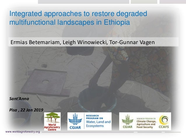 Integrated approaches to restore degraded multifunctional landscapes in Ethiopia Ermias Betemariam, Leigh Winowiecki, Tor-...