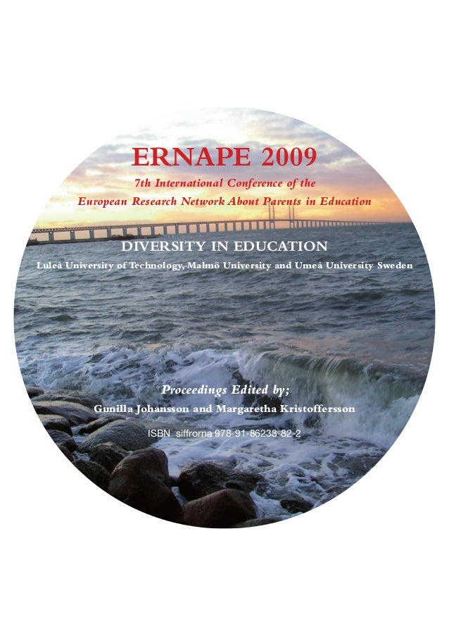 About Parents in Education  ERNAPE 2009  7th International Conference of the  European Research Network About Parents in E...