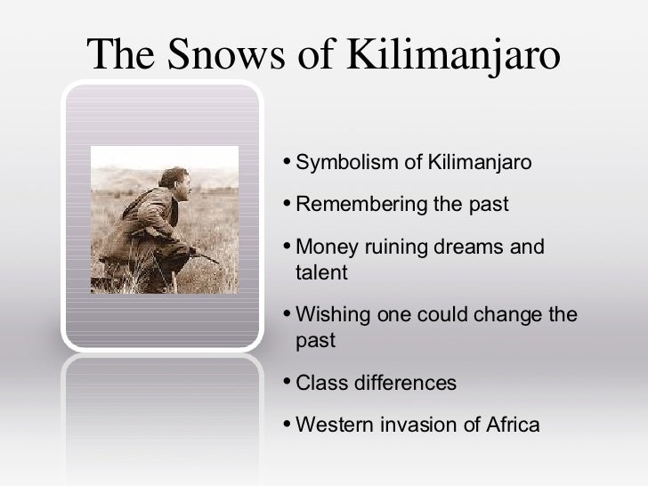 ernest hemingway the snows of kilimanjaro sparknotes