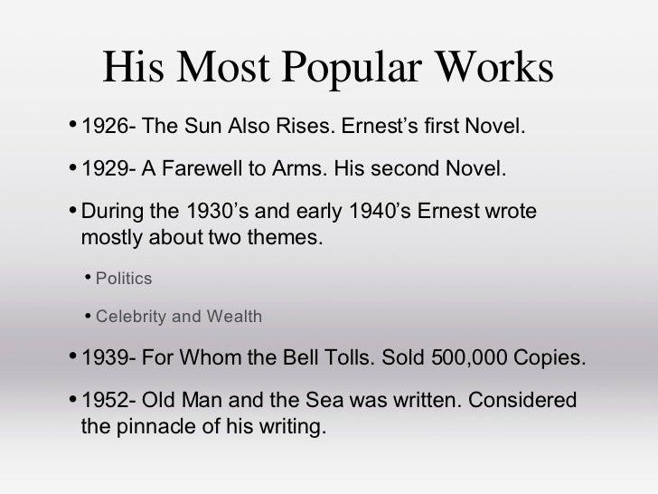 Ernest Hemingway, a Legacy for American Literature Essay