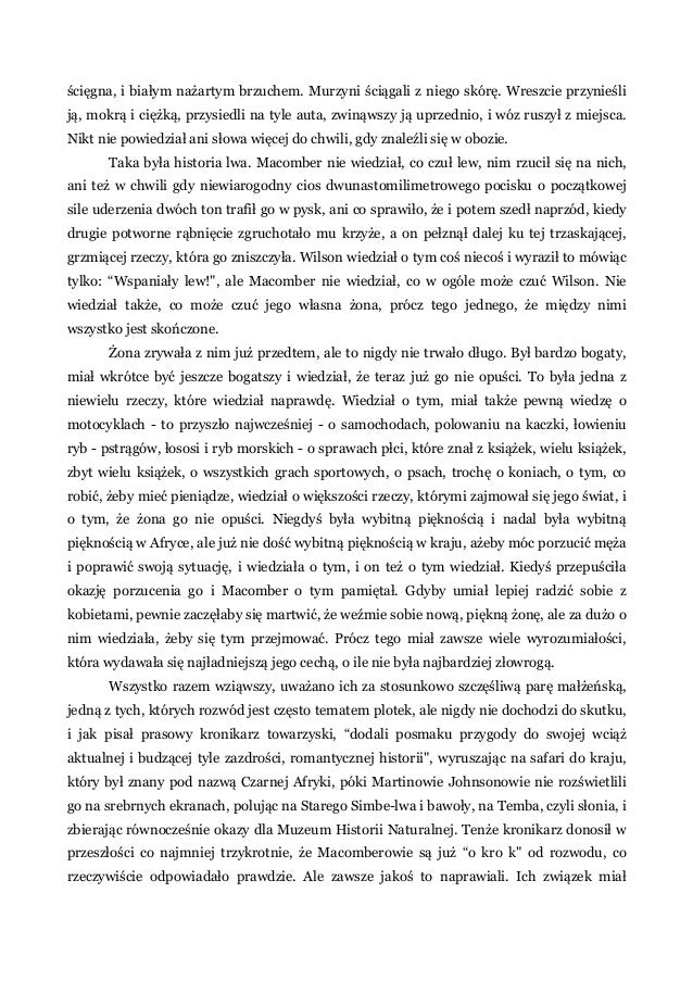 Ernest Hemingway 49 Opowiadań