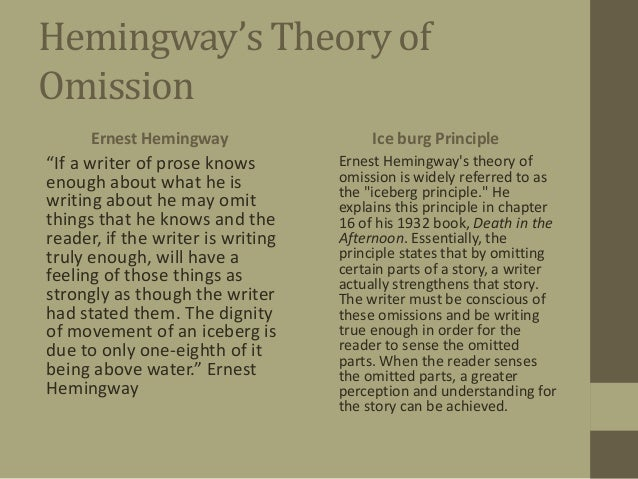 ernest hemingway and his work hemingway s theory ofomission