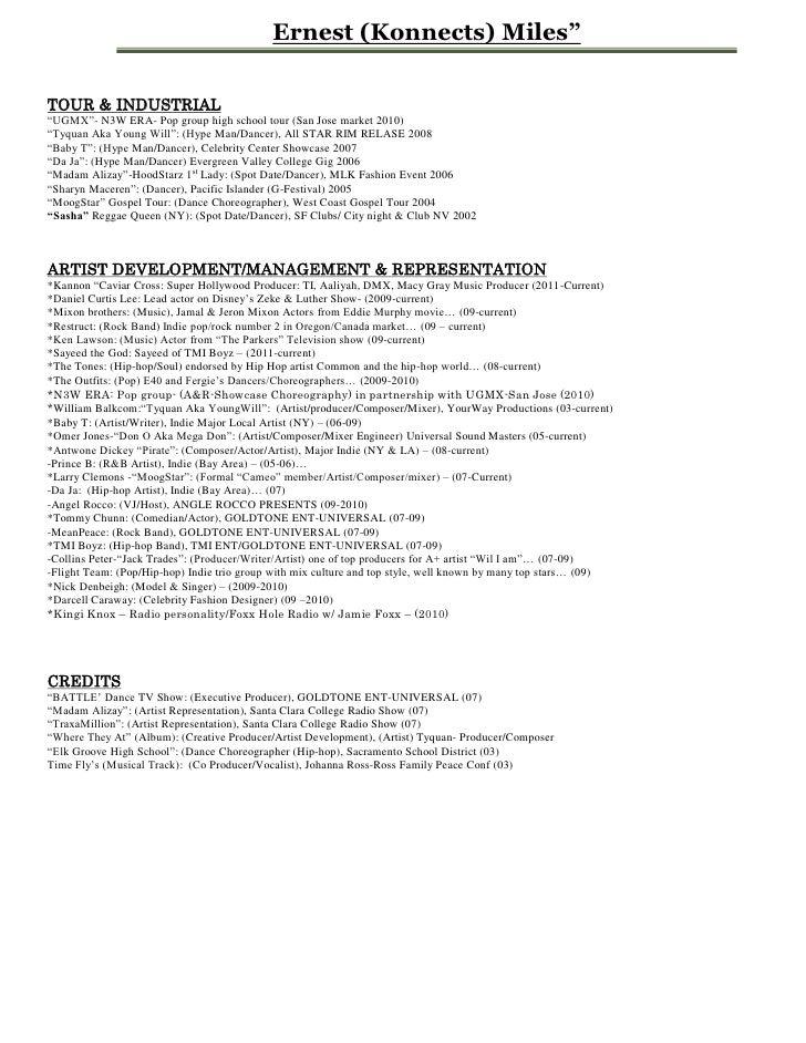 ernest konnects miles entertainment resume pdf