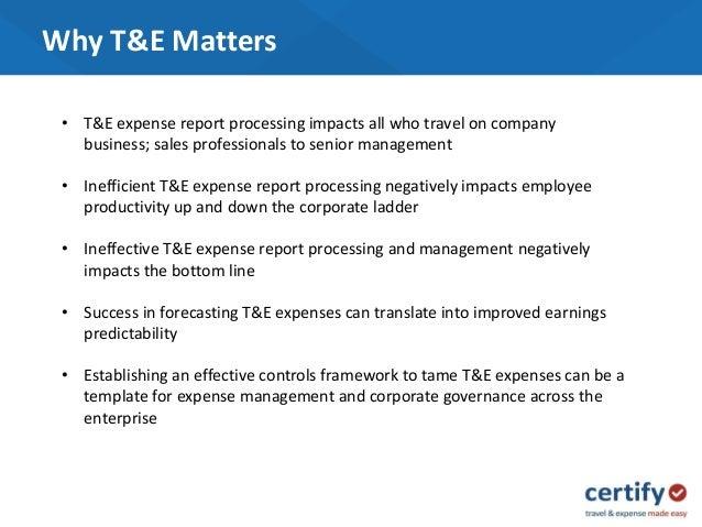 unlocking the strategic value of t e expense management