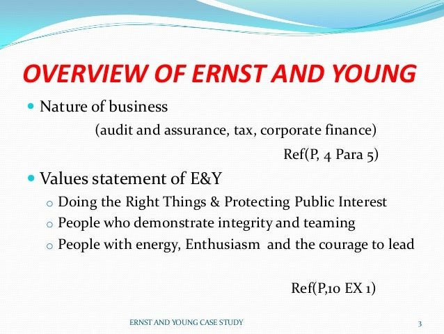 e&y case study interview