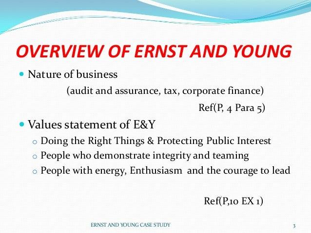 e&y case study interview