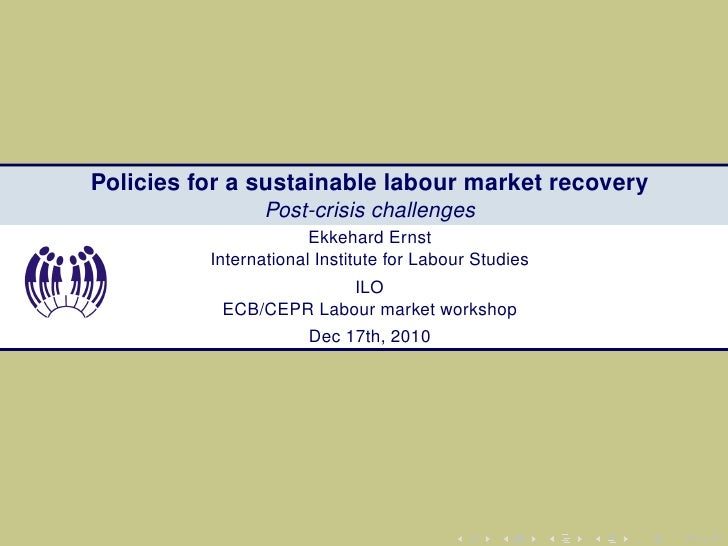 Policies for a sustainable labour market recovery