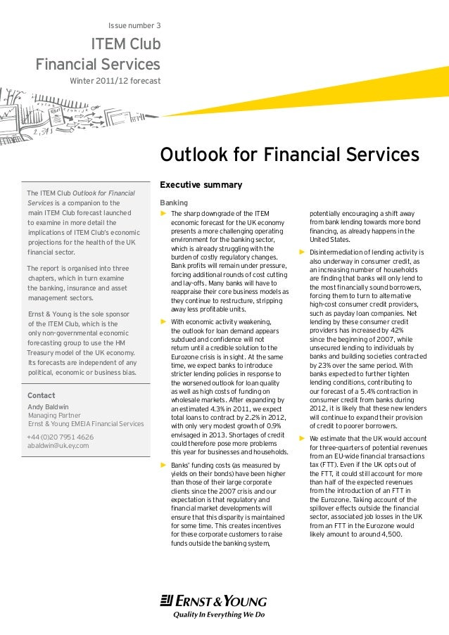 Issue number 3          ITEM Club  Financial Services              Winter 2011/12 forecast                                ...