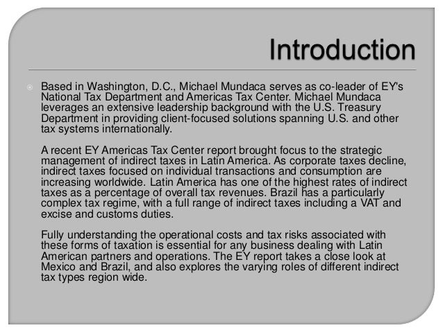 Ernst & Young Report Explores Indirect Taxes in Latin America