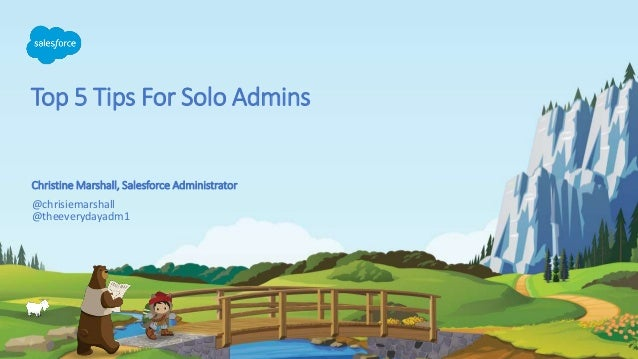 Top 5 Tips For Solo Admins @chrisiemarshall @theeverydayadm1 Christine Marshall, Salesforce Administrator