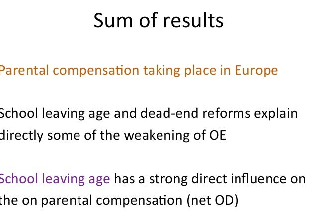 Institutional Change and Parental Compensation in Intergenerational attainment