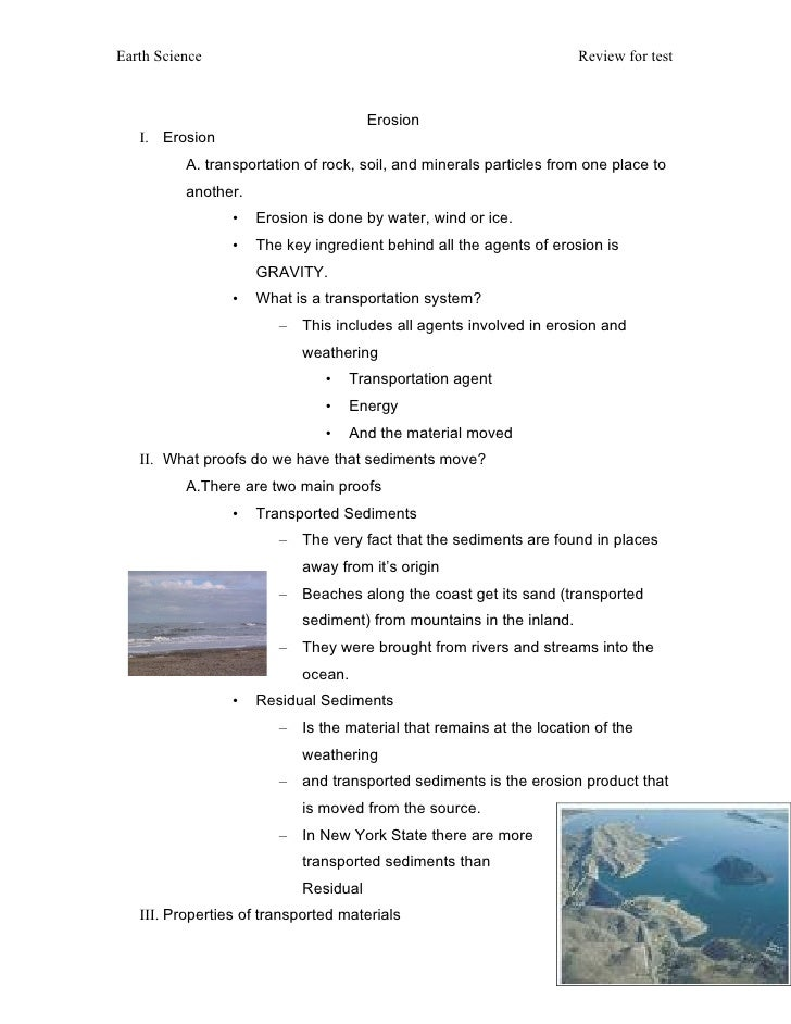 Earth Science                                                         Review for test                                     ...