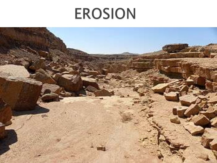    Is the process by    which soil and    rock are removed    from the Earths    surface by natural    processes such as ...