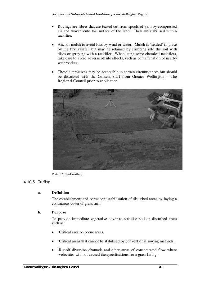 sediment and erosion control guidelines