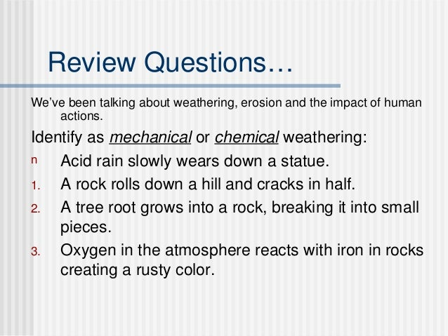Erosion deposition soil intro for Soil questions