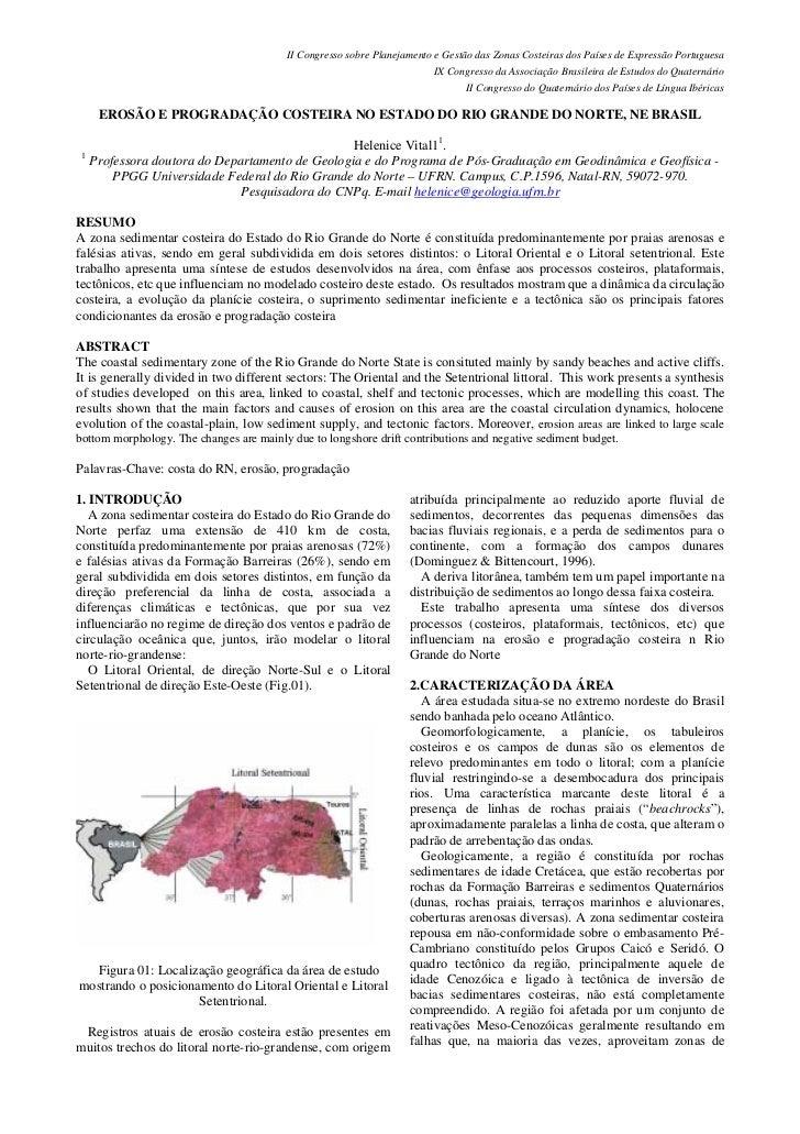 II Congresso sobre Planejamento e Gestão das Zonas Costeiras dos Países de Expressão Portuguesa                           ...