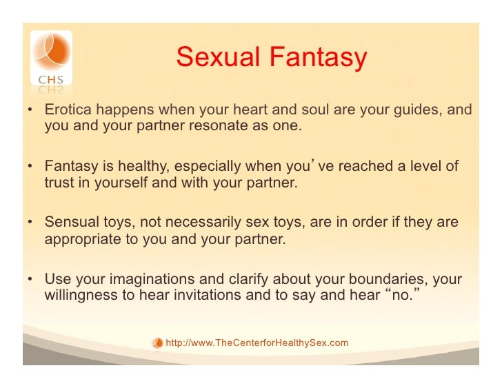 Are sexual fantasies healthy