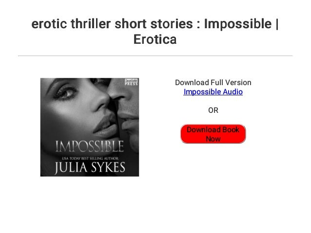 Erotic thriller stories