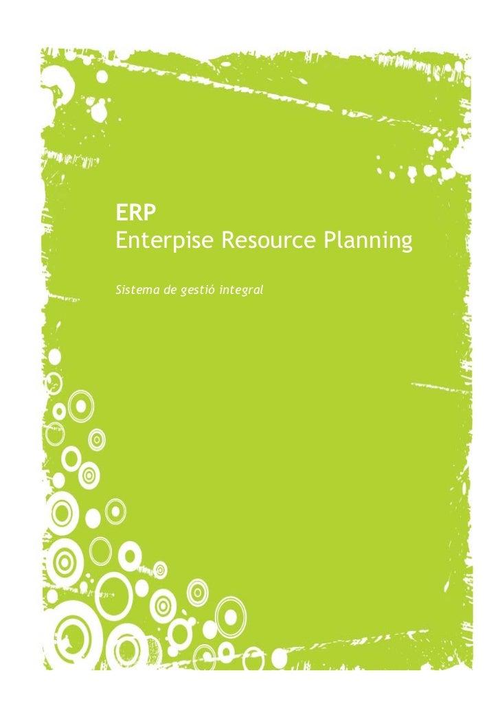 ERPEnterpise Resource PlanningSistema de gestió integral