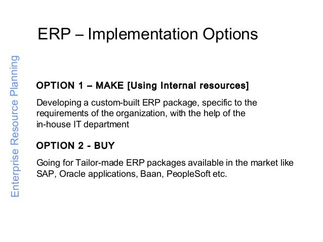 Image result for ERP implementation Options