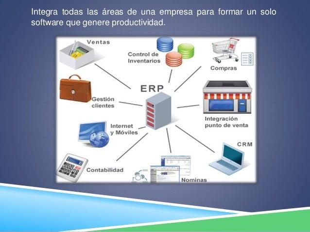 Integra todas las áreas de una empresa para formar un solo software que genere productividad.