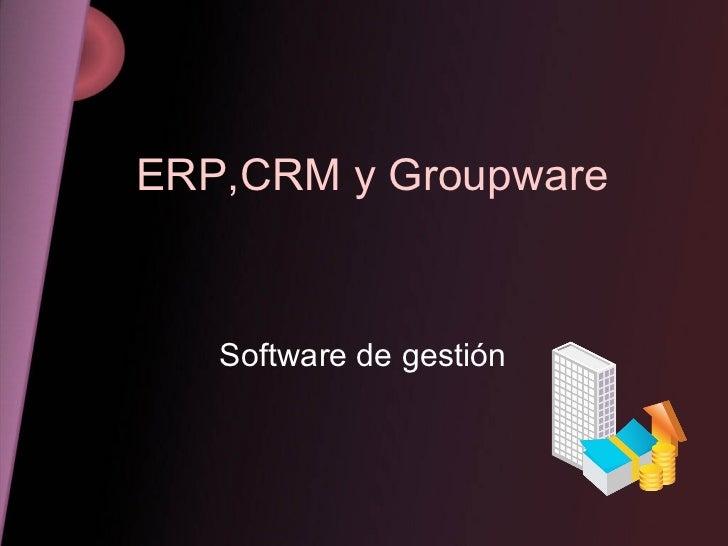 ERP,CRM y Groupware Software de gestión