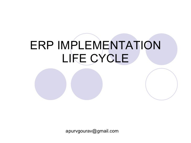 erp implementation life cycle  erp life cycle diagram #10