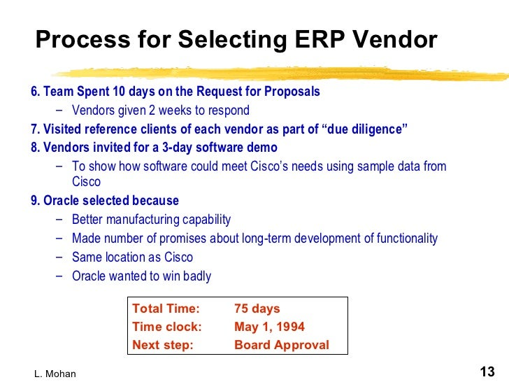 erp selection criteria At this instance, you would need careful guidance in the project selection criteria,  as a small mistake could be detrimental to your project as a whole, and in the.