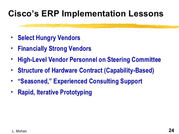 Erp Implementation Is The Challenge