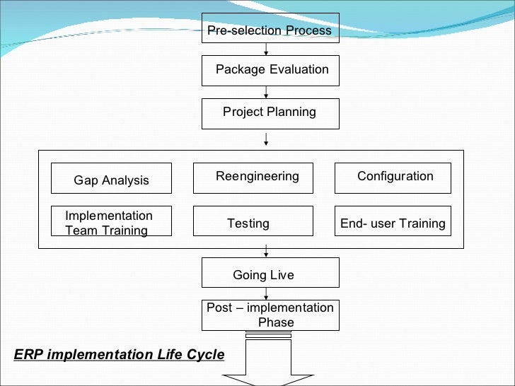 erp implementation life cycle  erp life cycle diagram #14