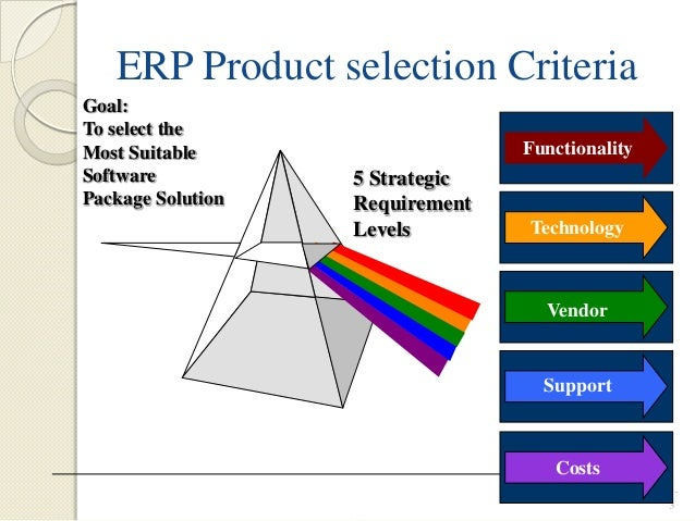 erp selection criteria The vendor selection process can be a very confusing here are some straightforward steps to help you select the right vendor for your business selection criteria.
