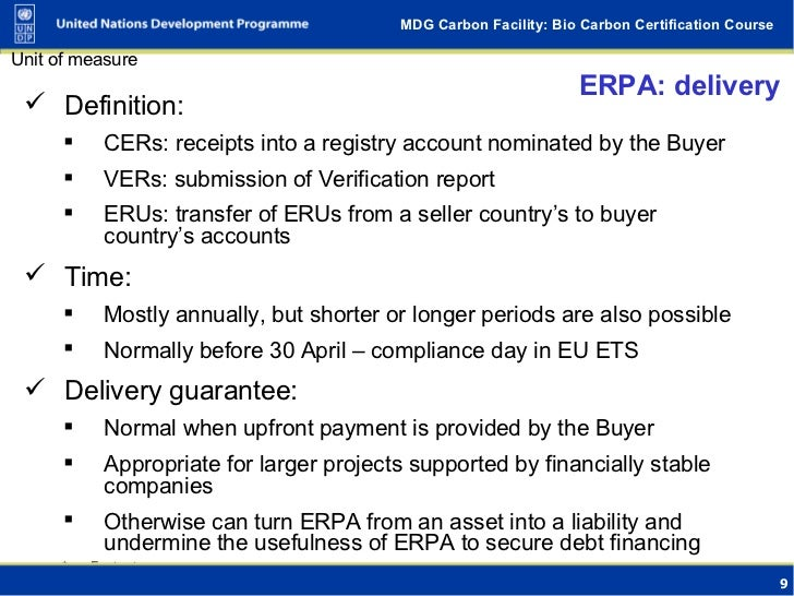 Emission Reduction Purchase Agreement (Erpa) - Buying And Selling Car…