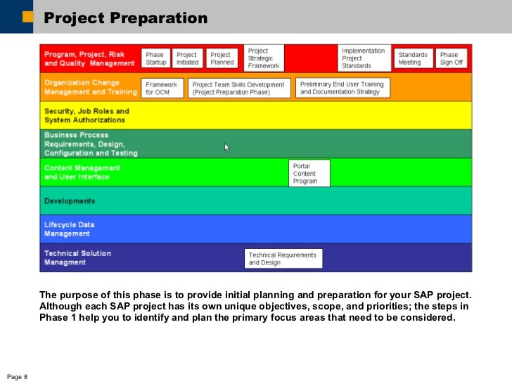 erp project plan template