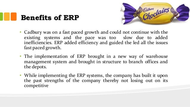 erp implementation case study cadbury