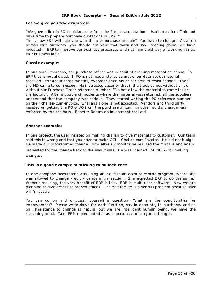 ERP Book by Jyotindra Zaveri - Excerpts