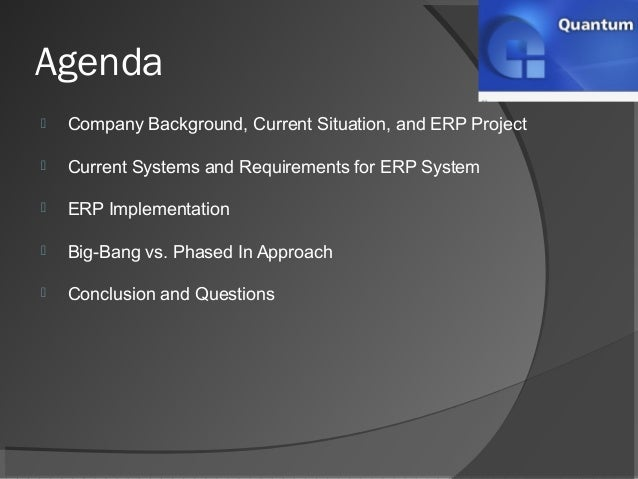 erp case study questions Erp case studies, an erp case study research on a company which has purchased/ developed in-house an erp software, implemented the same, reaped the benefits, case.
