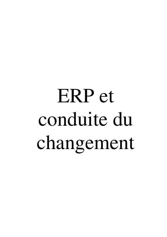 ERP et conduite du changement