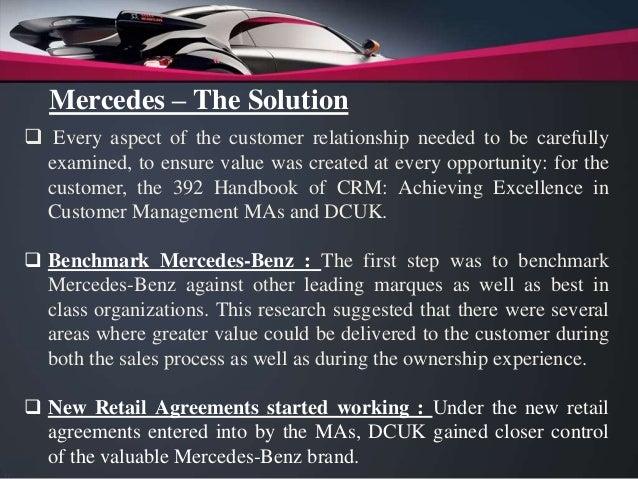 Customer Relationship Management - Case Study [Mercedes Benz]
