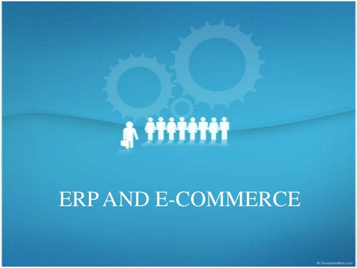 ERP AND E-COMMERCE<br />