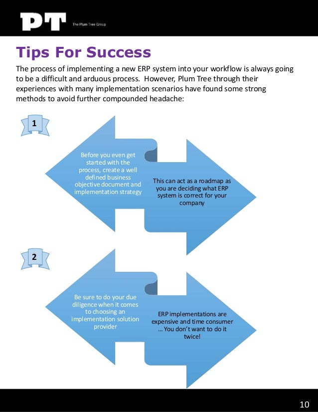 Tips For Success The process of implementing a new ERP system into your workflow is always going to be a difficult and ard...