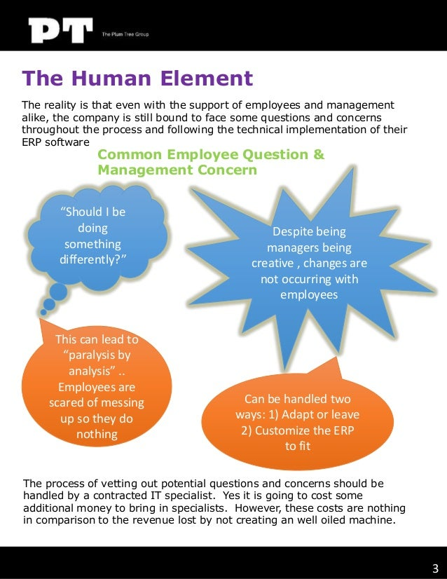 The Human Element The reality is that even with the support of employees and management alike, the company is still bound ...