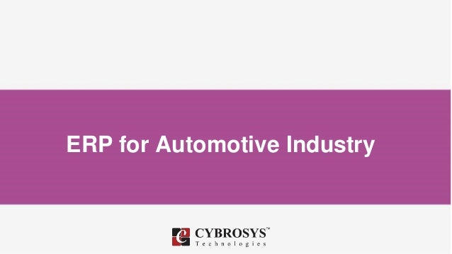 ERP for Automotive Industry