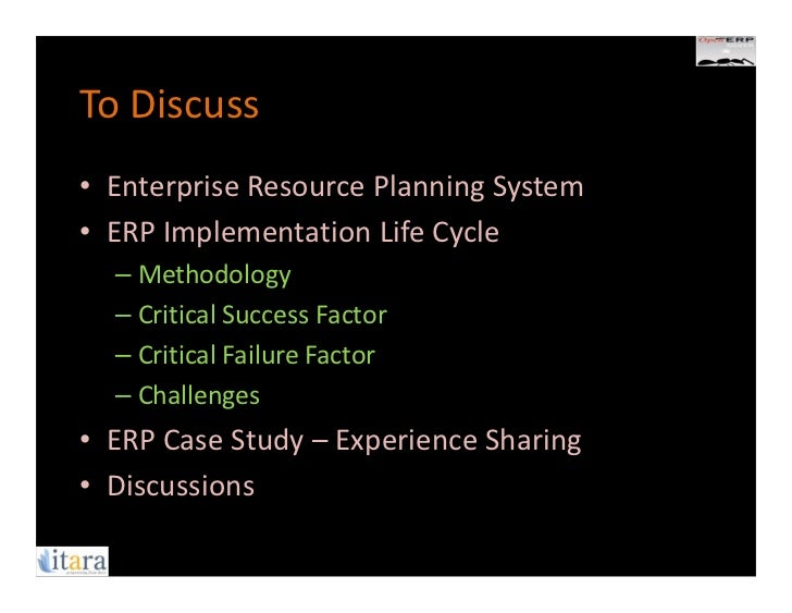 critical success factors of enterprise resource