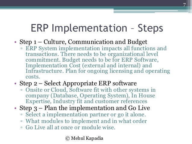 Erp Implementation Overview