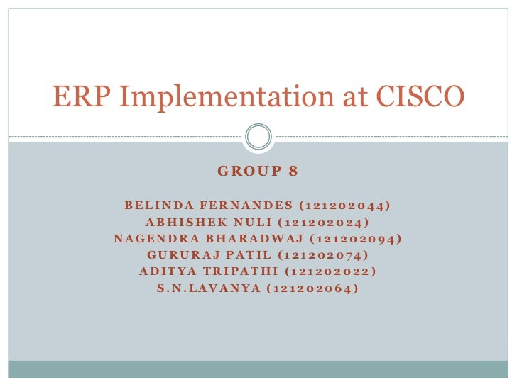 was cisco smart or lucky with its erp implementation?