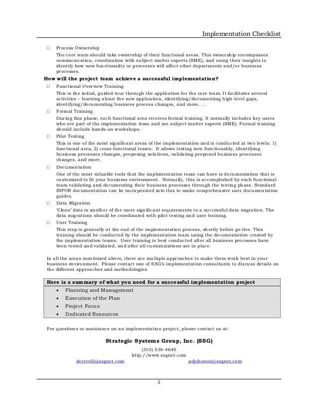 Erp implementation checklist