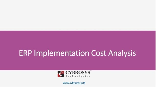 www.cybrosys.com ERP Implementation Cost Analysis