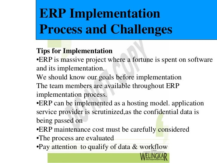 free project report on erp implementation at any company Erp implementations should concentrate on project management as the key to success all erp implementations vary in scope and erp technology is constantly changing but we know how to handle these changes with ease download free erp implementation success secrets valerie arguin.