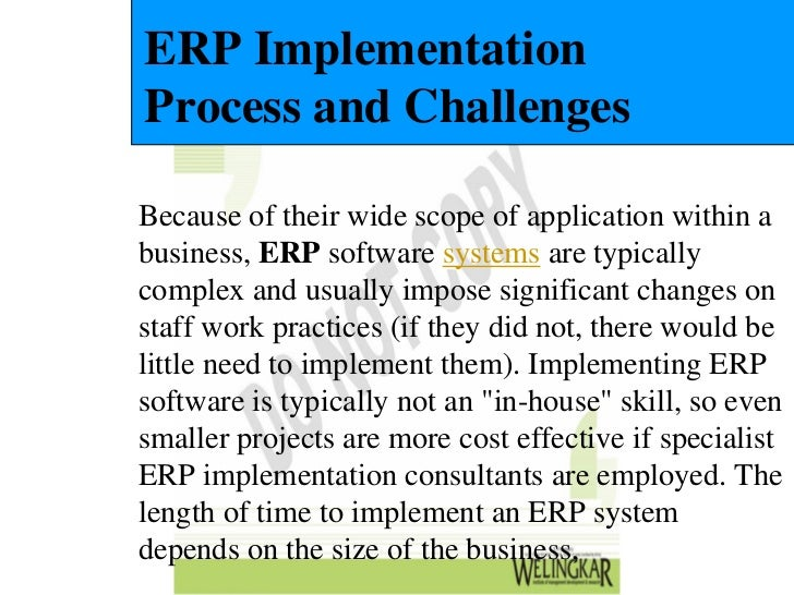 the challenges in implementing erp systems The firms implementing erp can face challenges which are  let's see why erp implementation is a challenging task  erp systems do not fail because of.